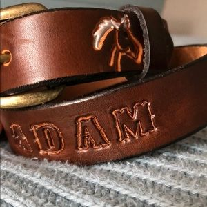 "Other - Boys Monogrammed ""Adam"" horse belt 22 inches"